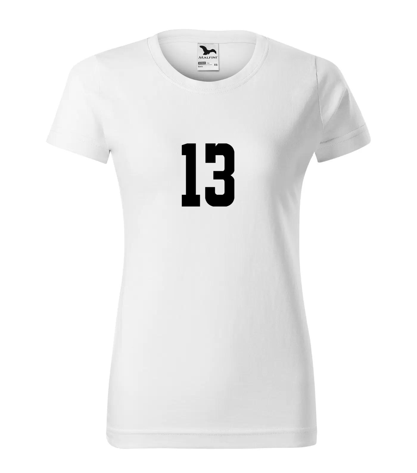 Tričko s číslem 13