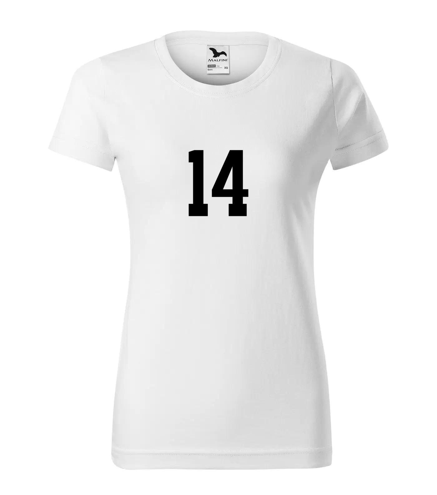 Tričko s číslem 14