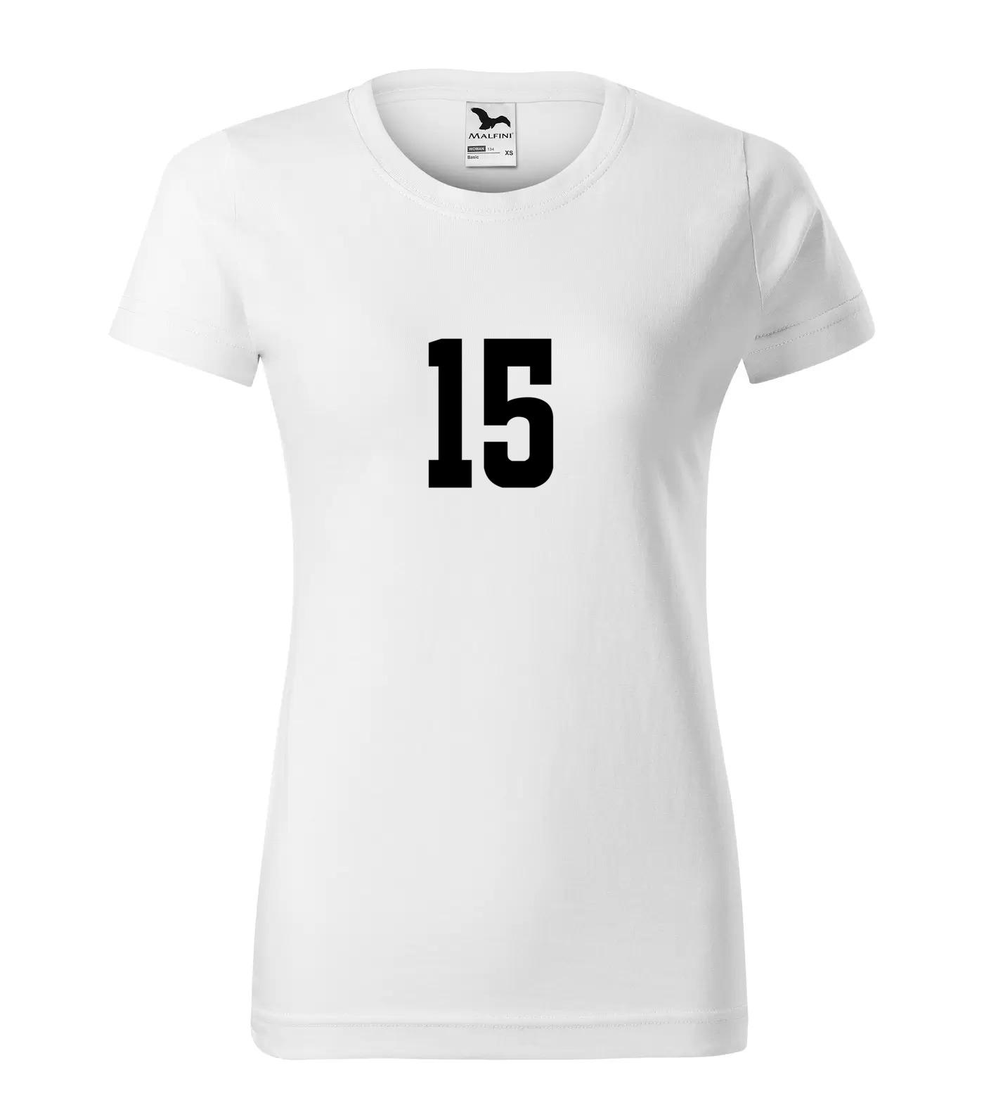 Tričko s číslem 15