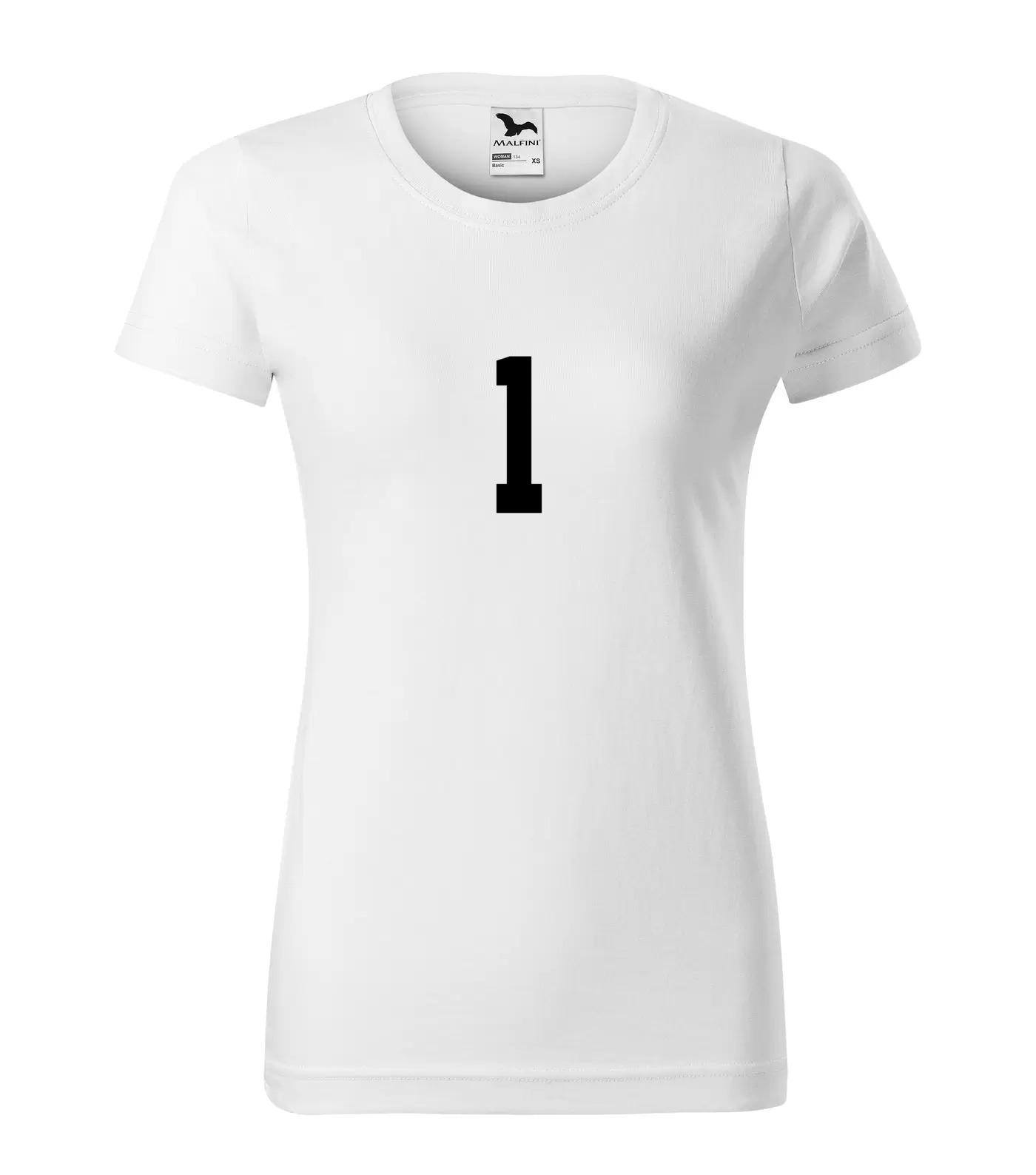 Tričko s číslem 1