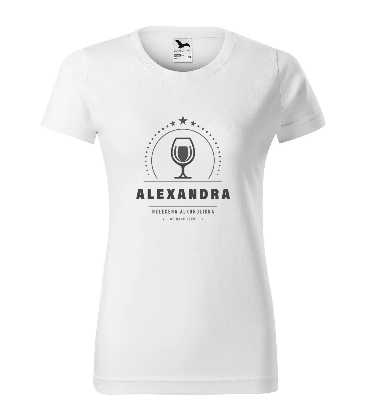 Tričko Alkoholička Alexandra