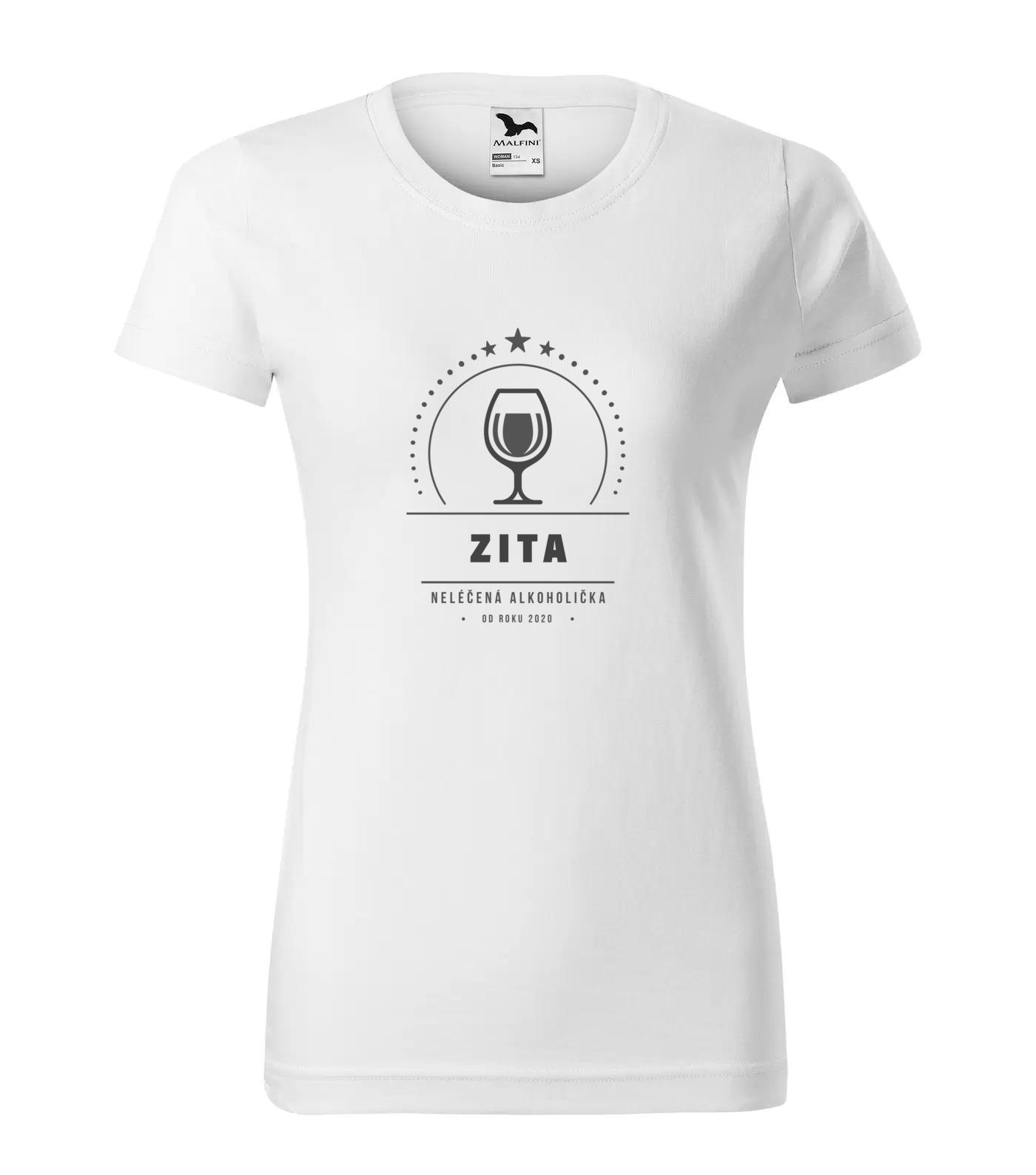 Tričko Alkoholička Zita