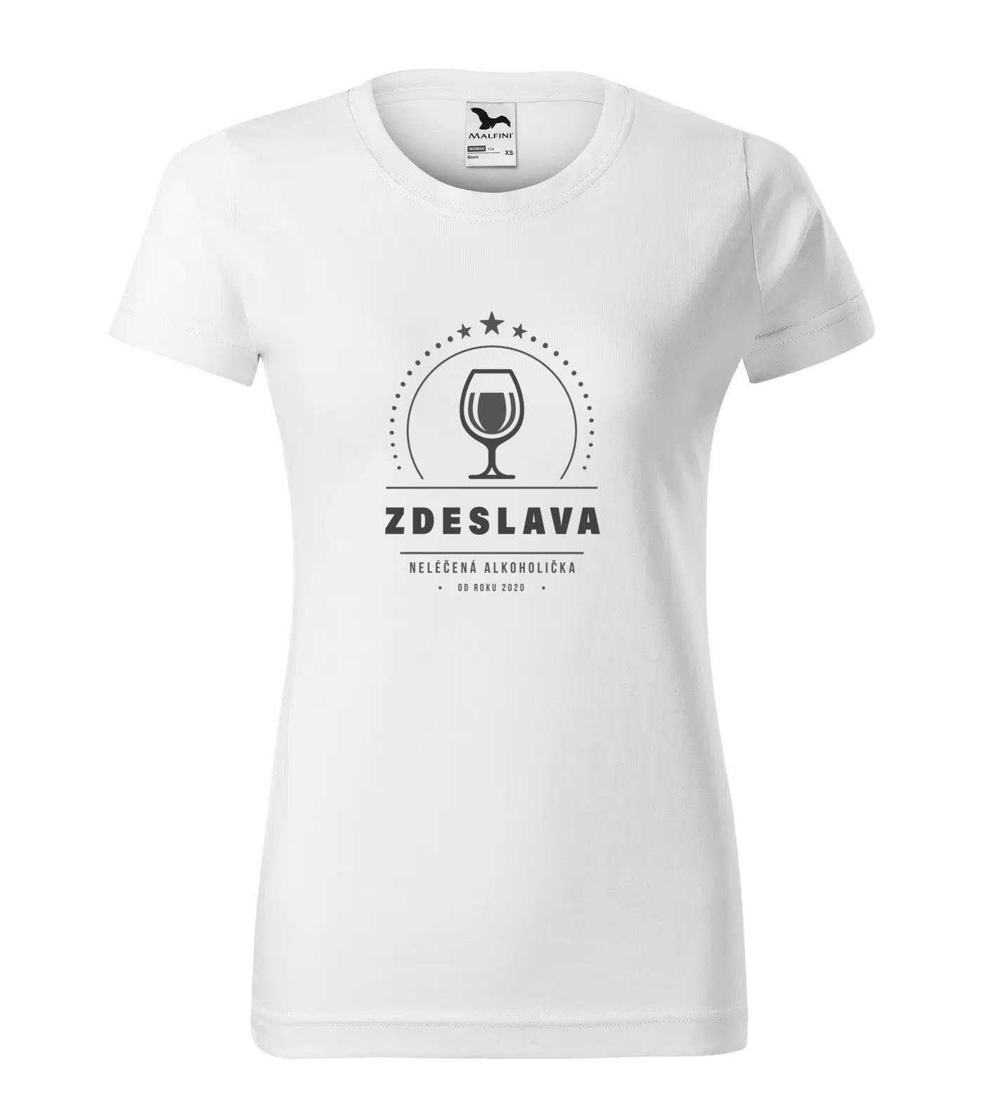 Tričko Alkoholička Zdeslava