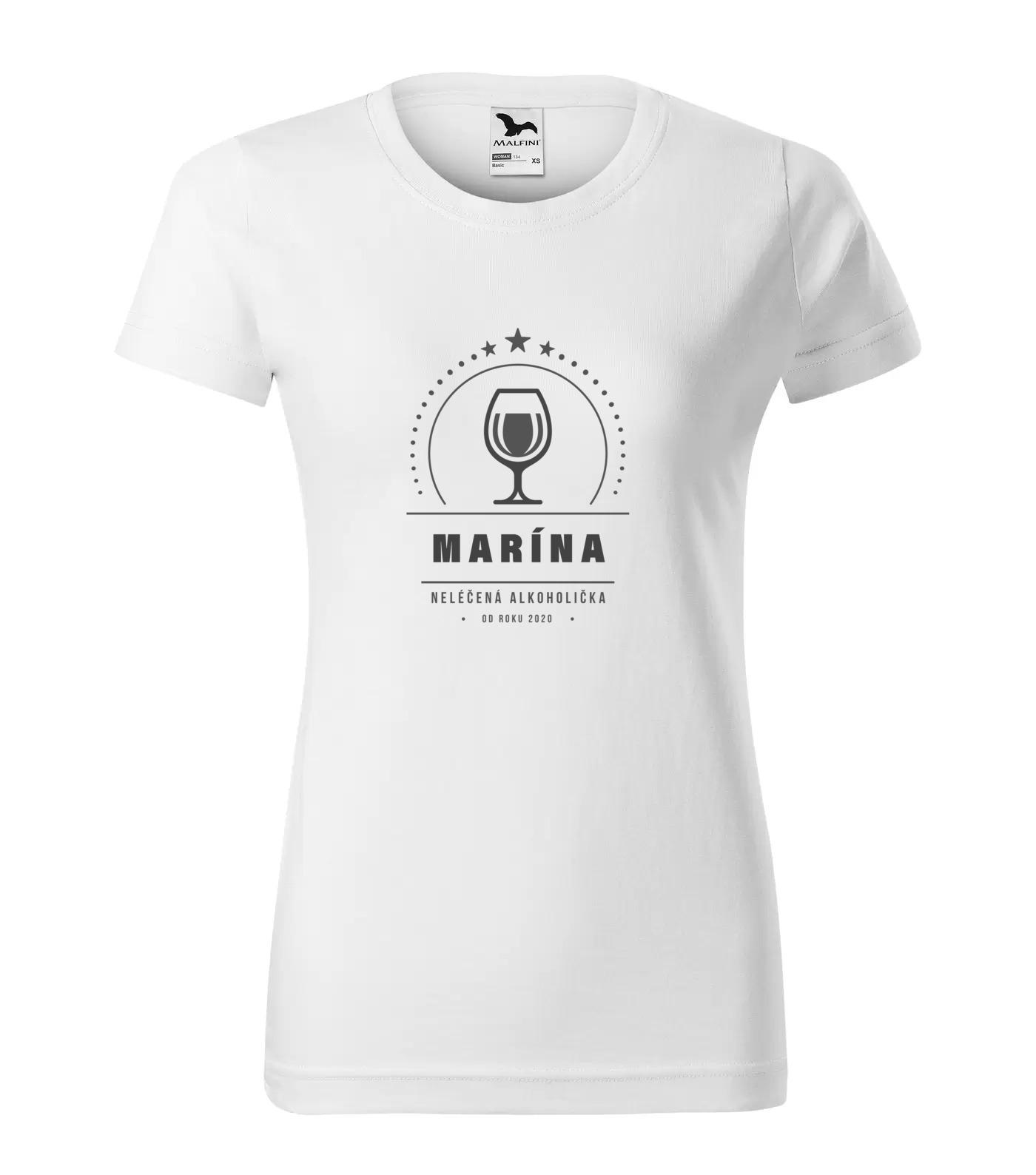 Tričko Alkoholička Marína