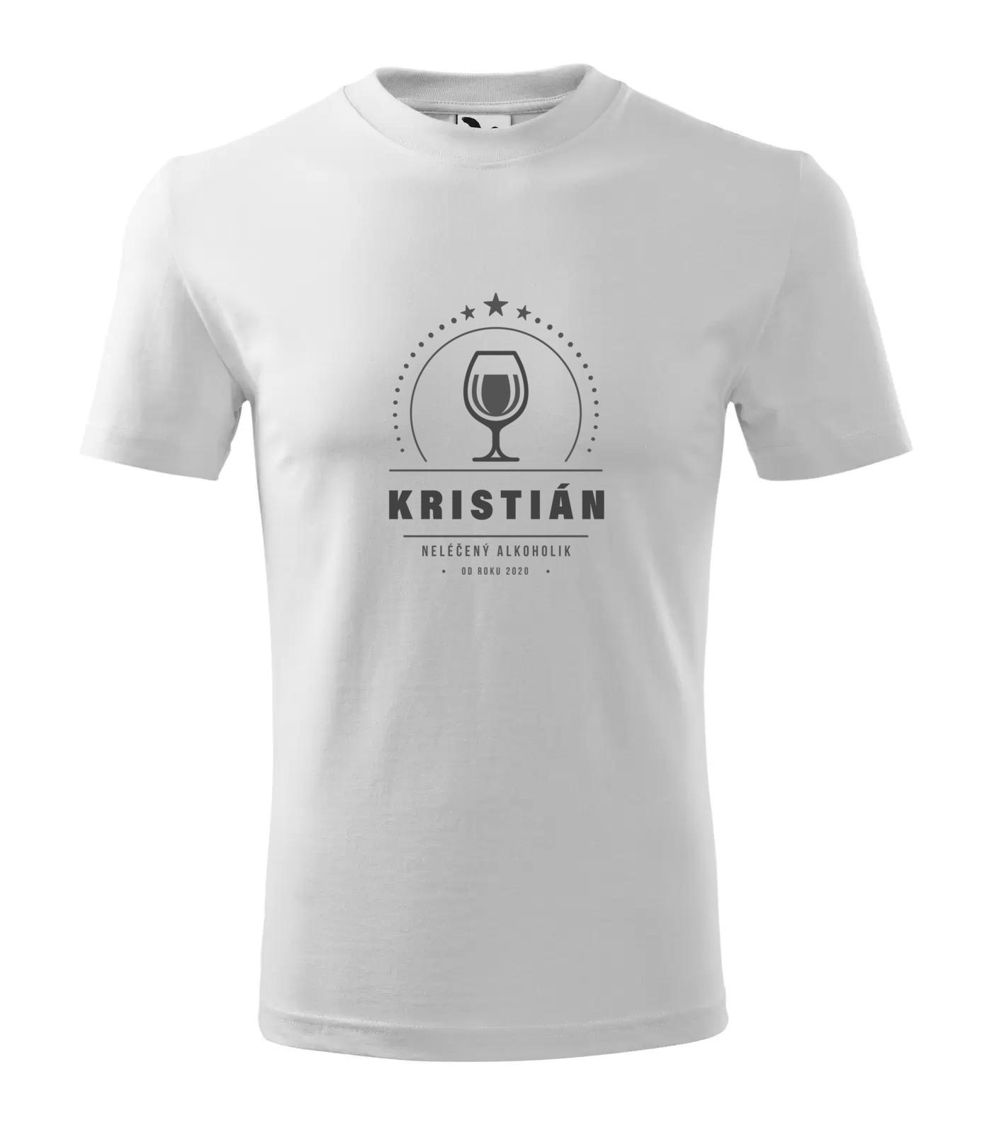 Tričko Alkoholik Kristián