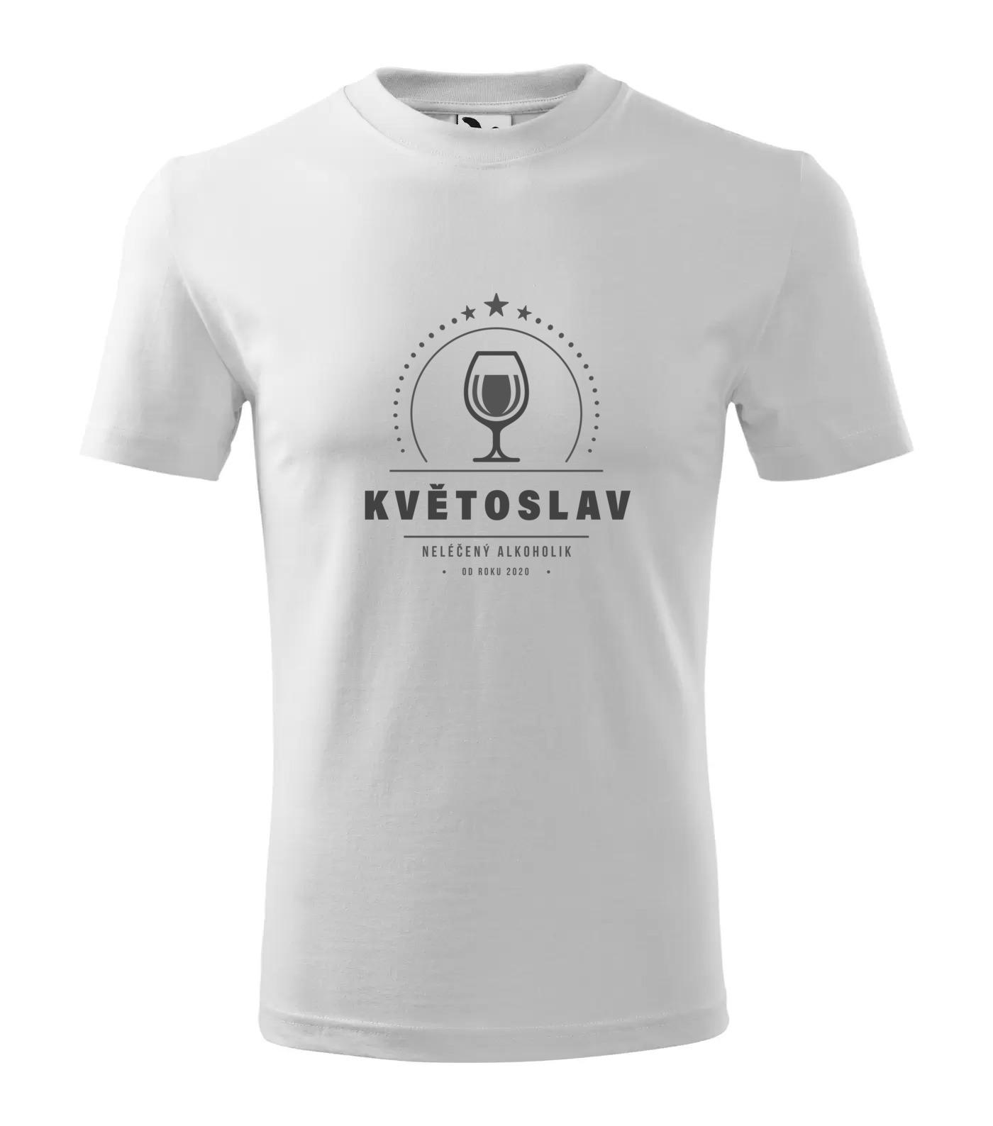 Tričko Alkoholik Květoslav