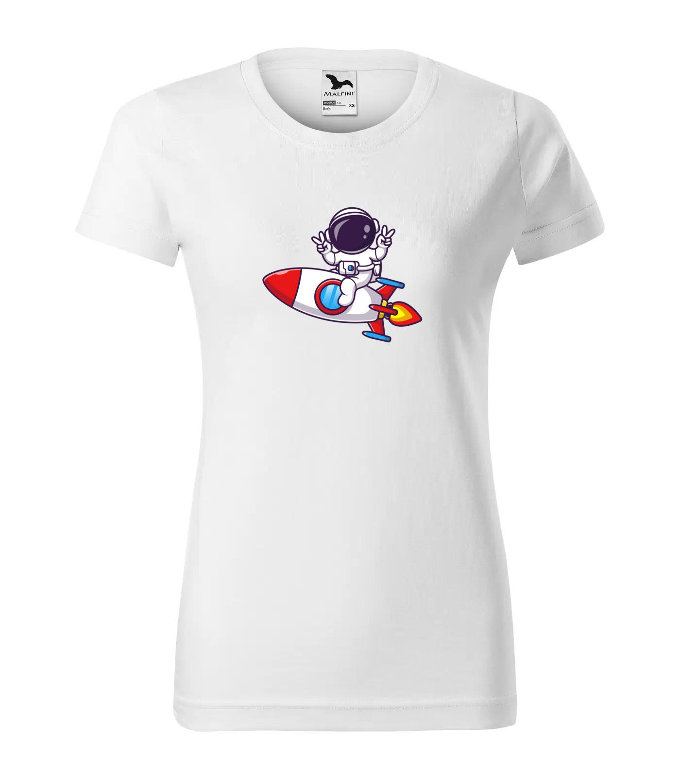 Tričko Astronaut na raketě