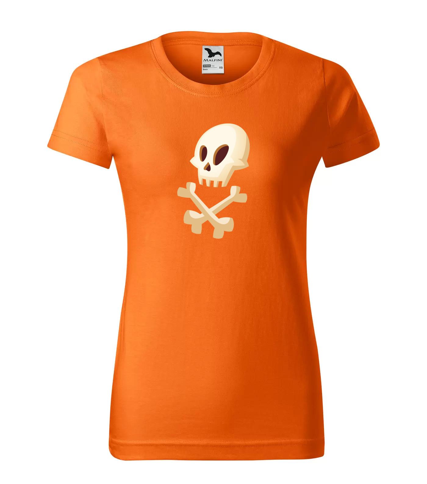 Tričko Halloween Lebka s Hnáty