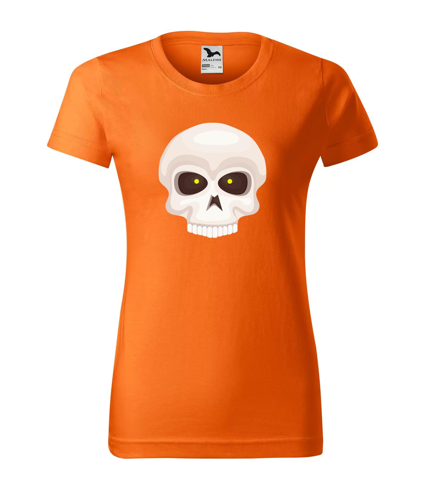 Tričko Halloween Lebka s pěkným chrupem