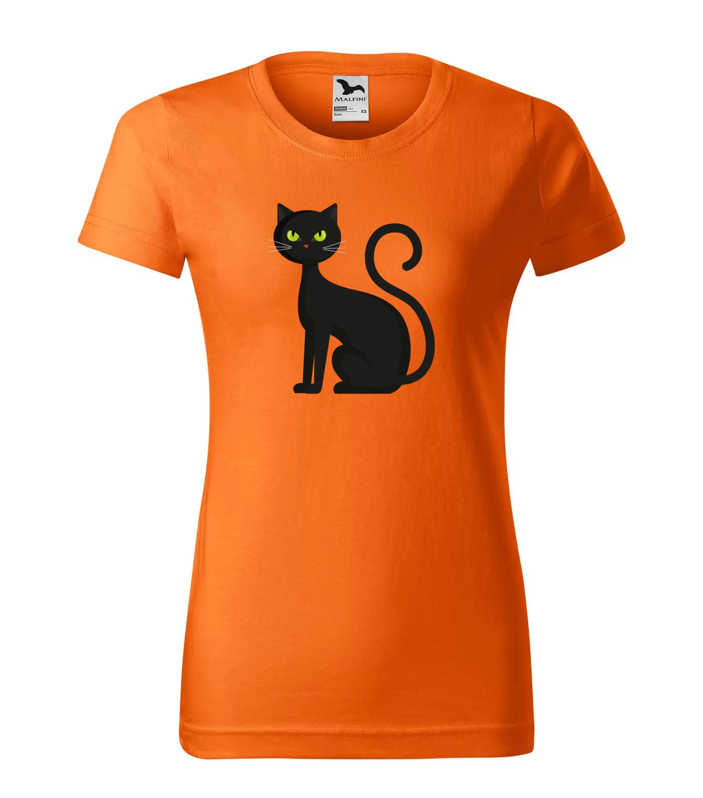 Tričko Halloween Černá Kočka