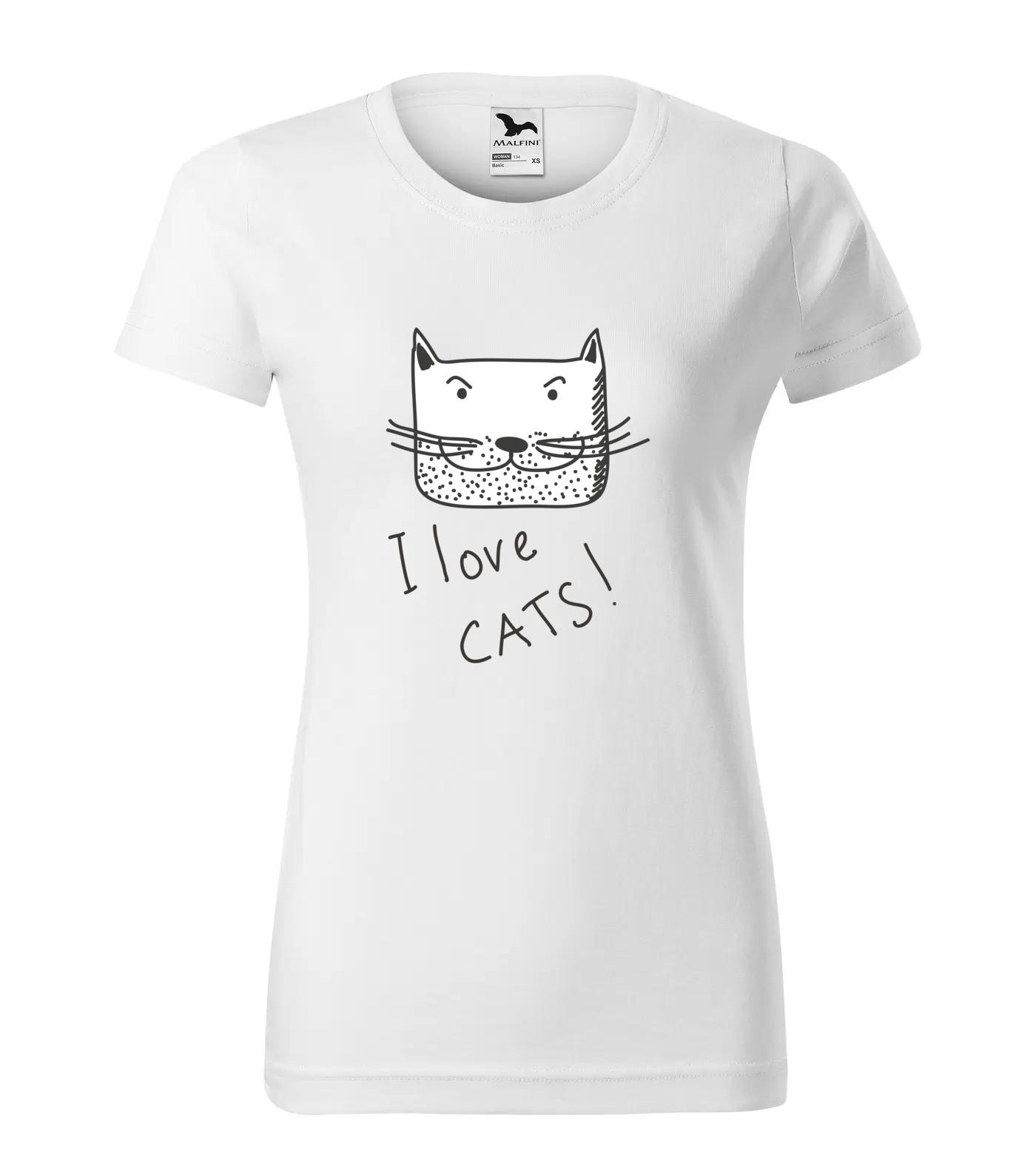 Tričko I Love Cats!