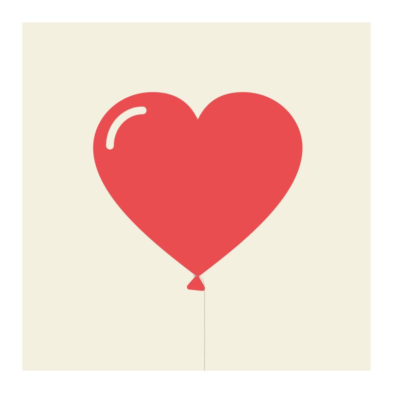 Tričko I Love You Balloon Heart
