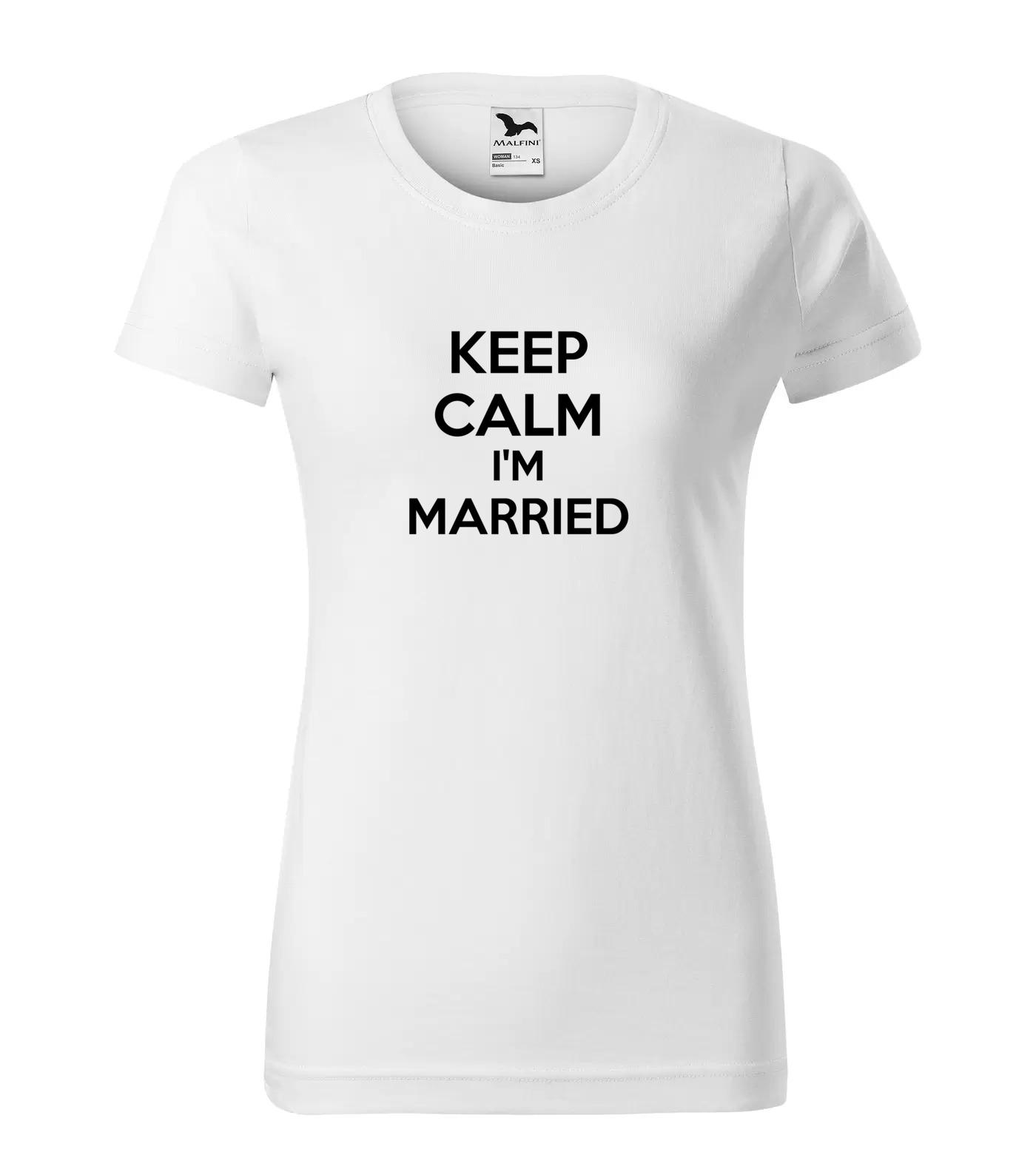 Tričko Keep Calm Married