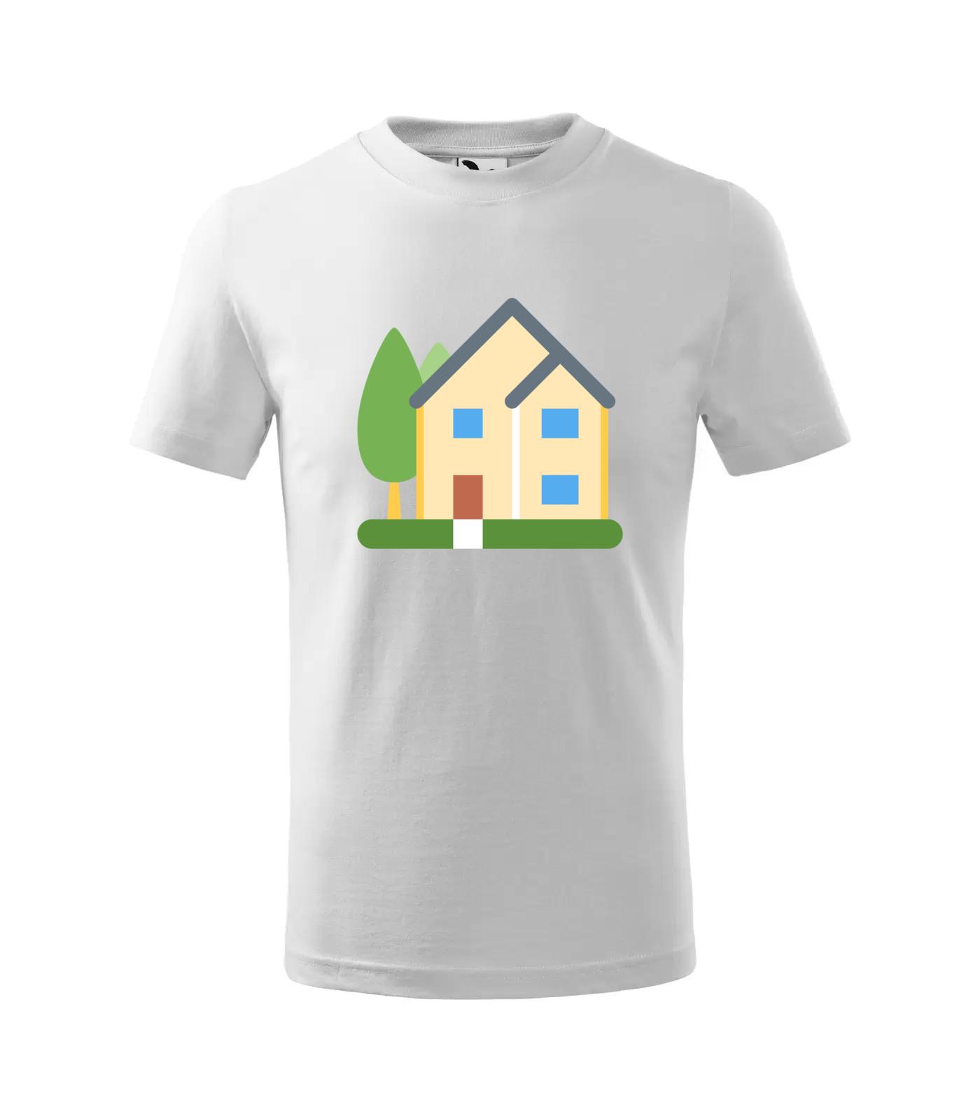 Tričko Dům se stromy
