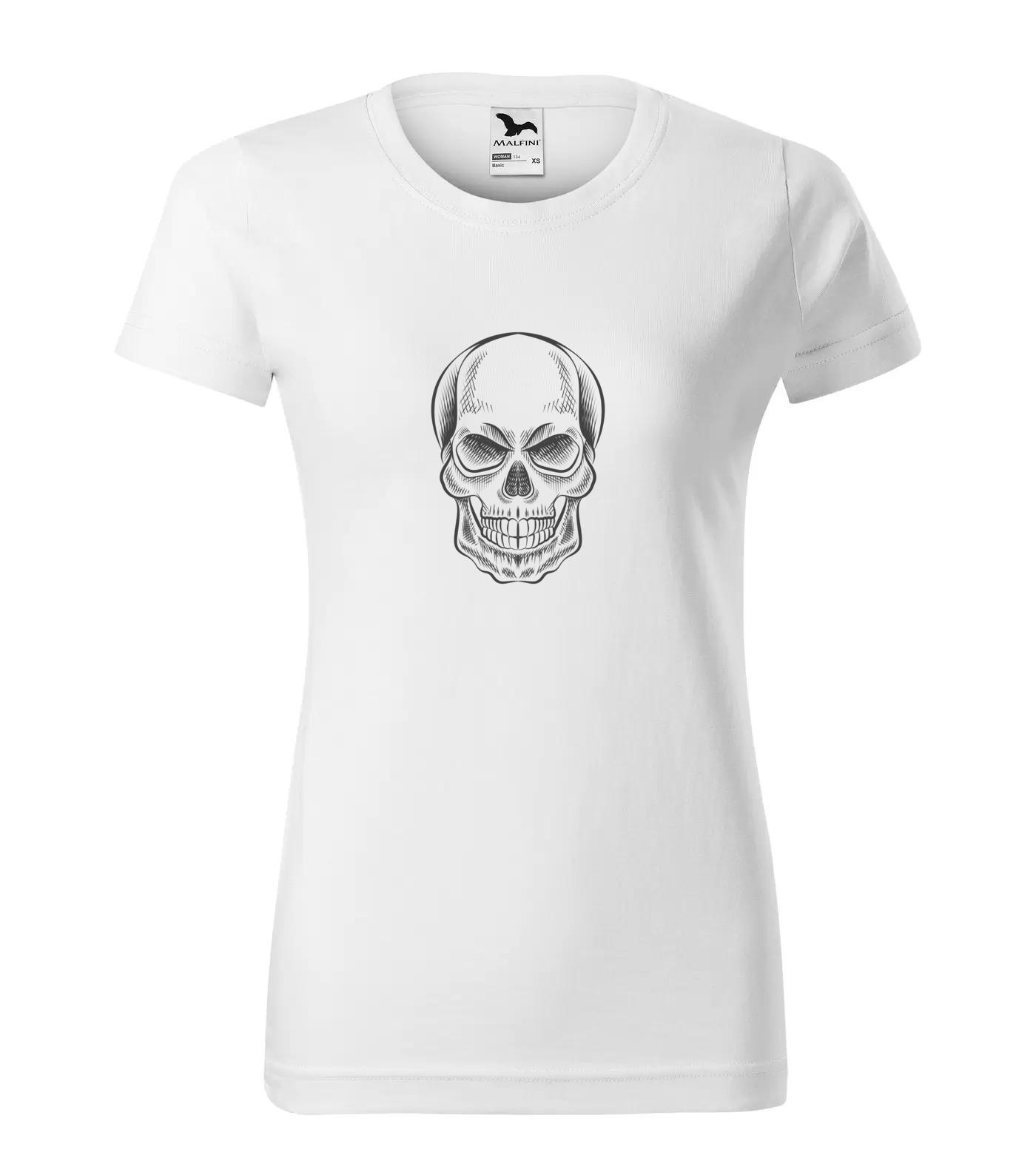 Tričko Lebka šedá