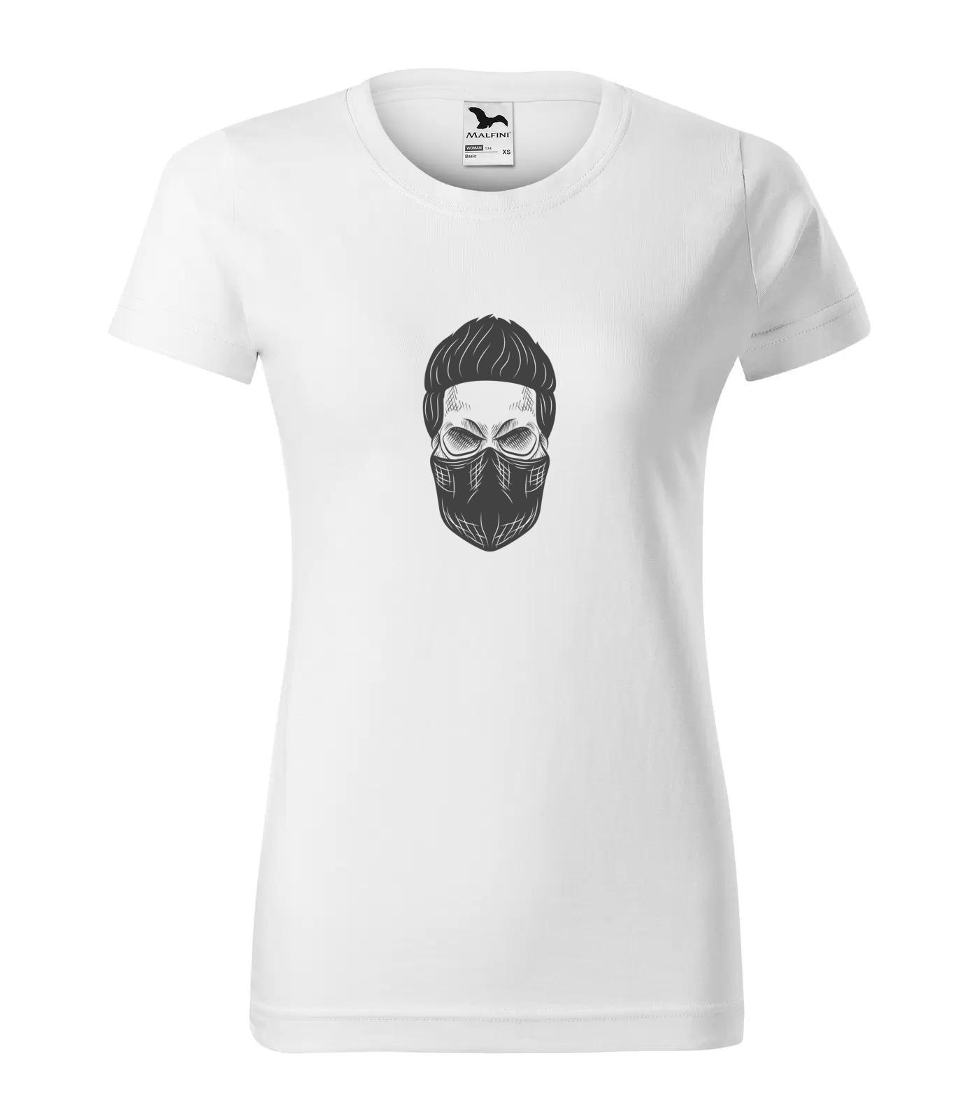 Tričko Lebka s rouškou
