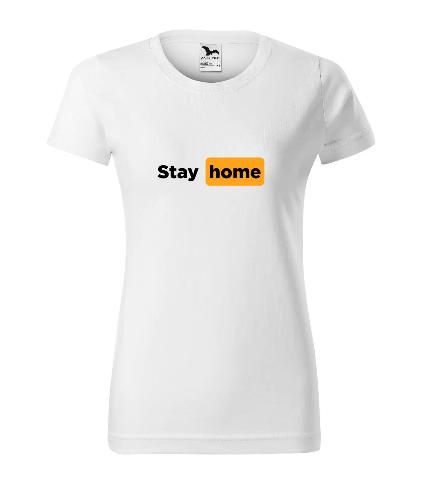 Tričko LockDown Stay Home Černá
