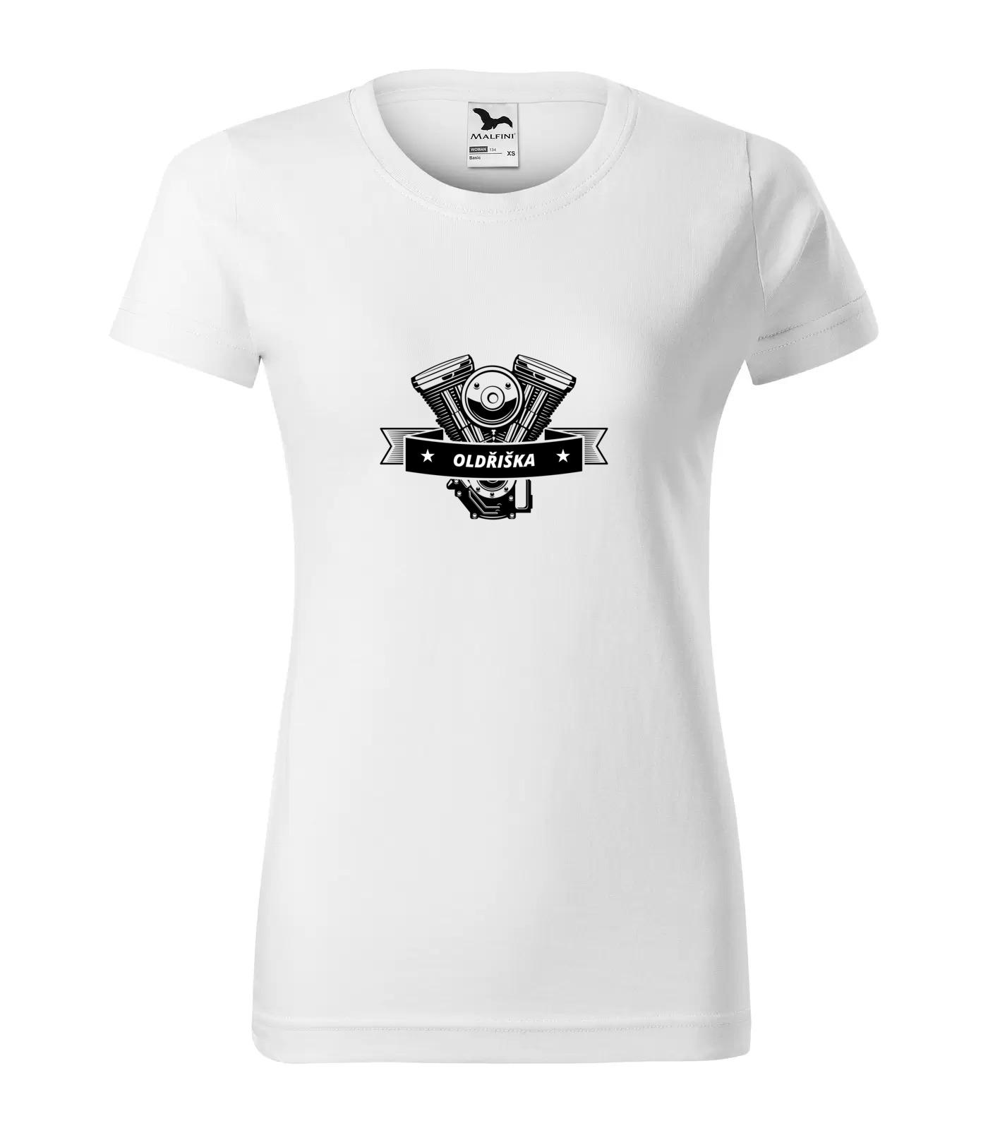Tričko Motorkářka Oldřiška