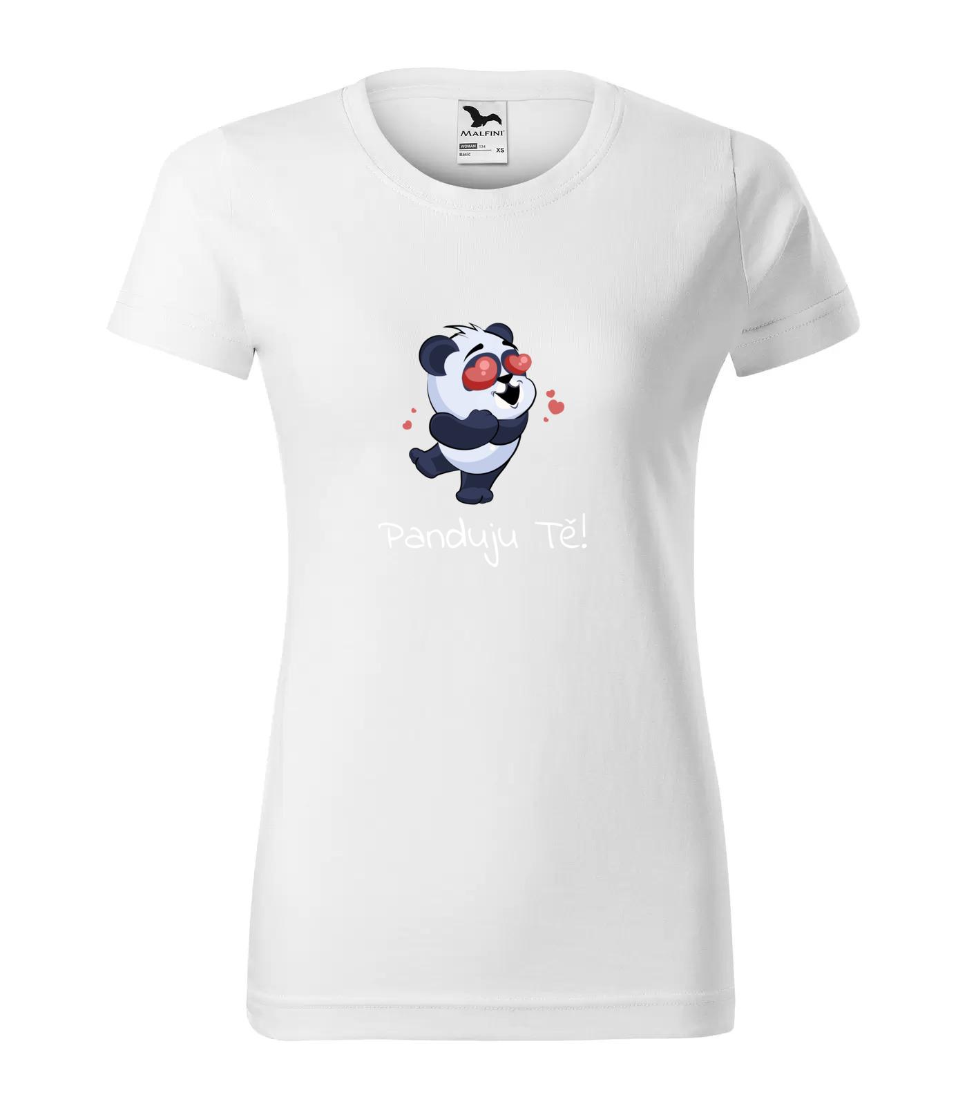 Tričko Panda Panduju Tě (bílý nápis)