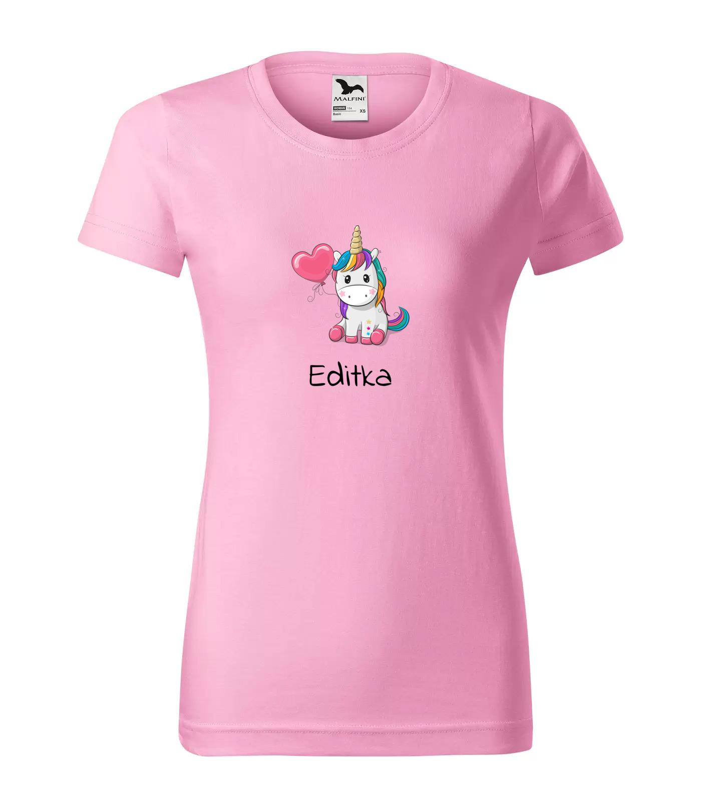 Tričko Jednorožec Editka