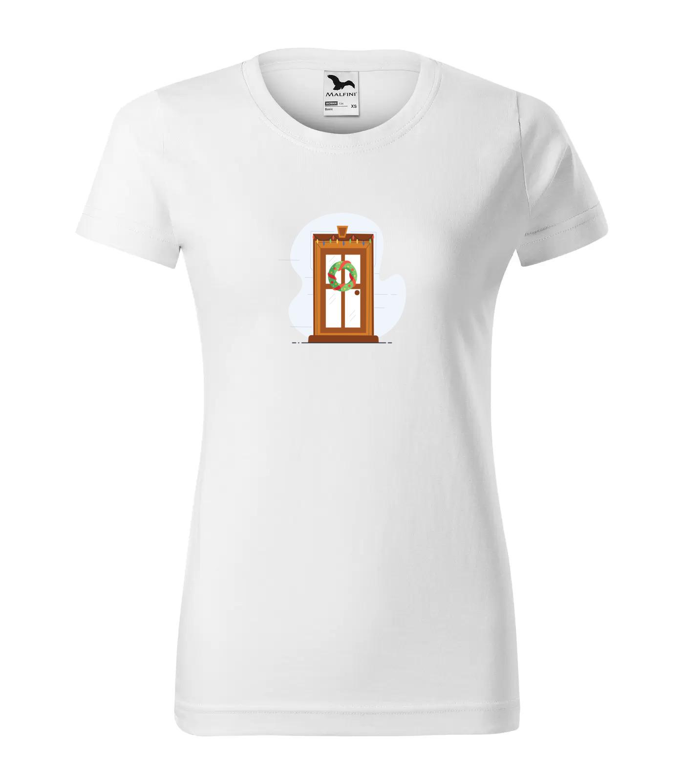 Vánoční tričko Dveře