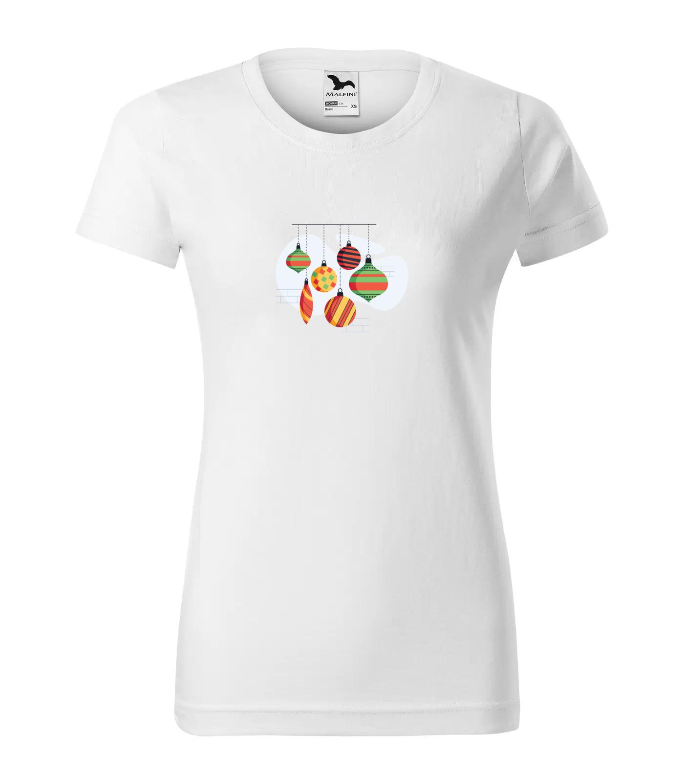 Vánoční tričko Ozdoby